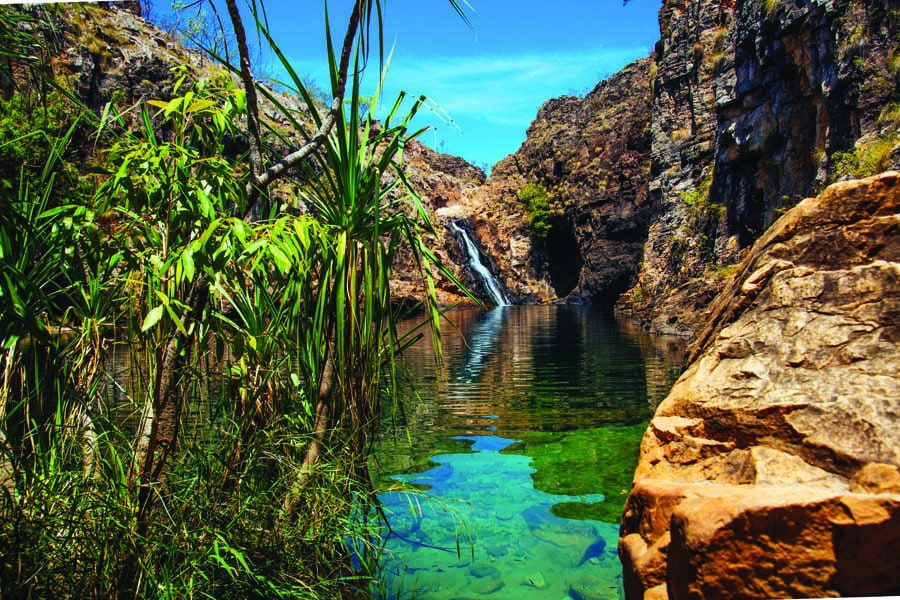 barramundi gorge in kakadu national park. image tourism australia
