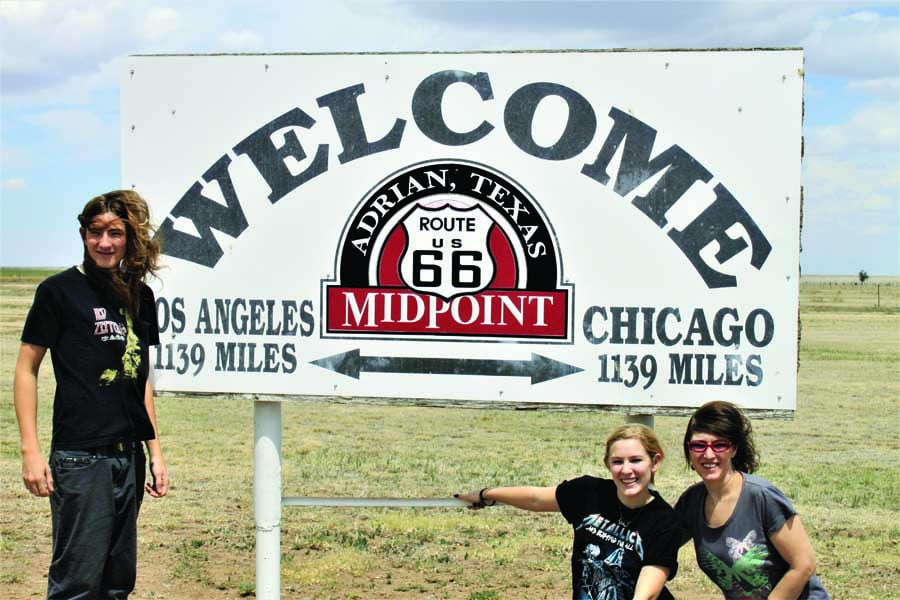 catherine and her kids loved driving route 66