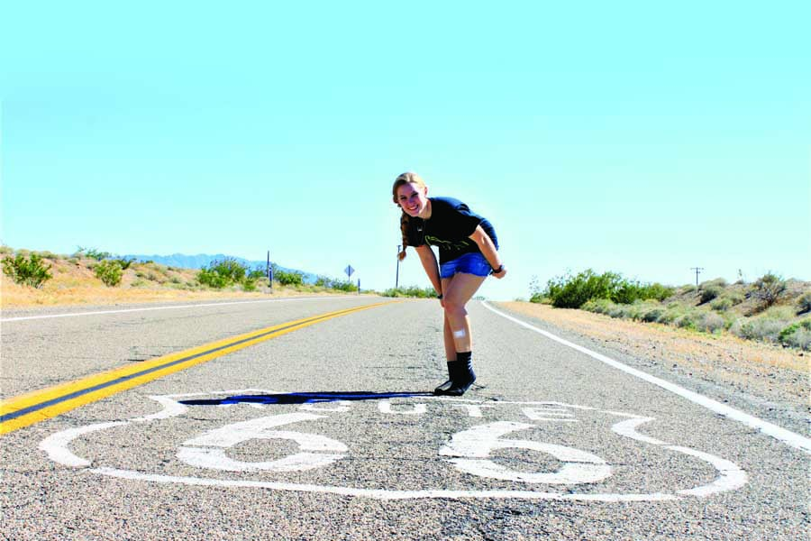 catherines daughter julia on route 66.