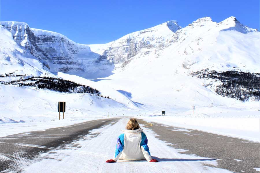 catherines daughter on the icefields parkway