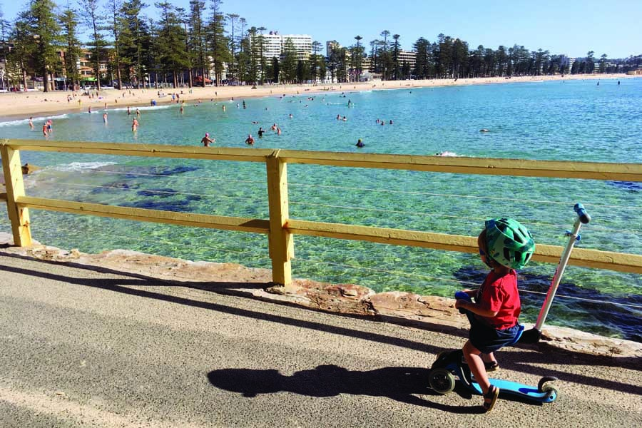 checking out the view at manly beach
