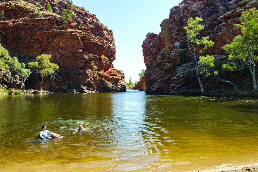ellery creek big hole. image tourism nt paddy pallin