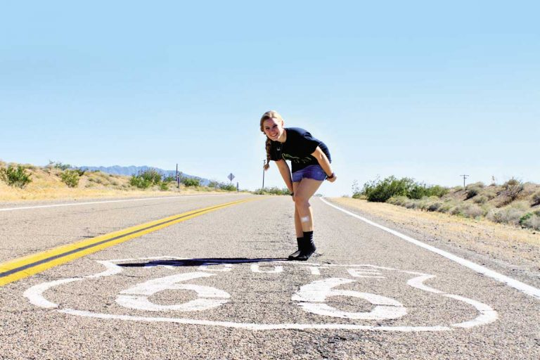 feature catherines daughter julia on route 66.