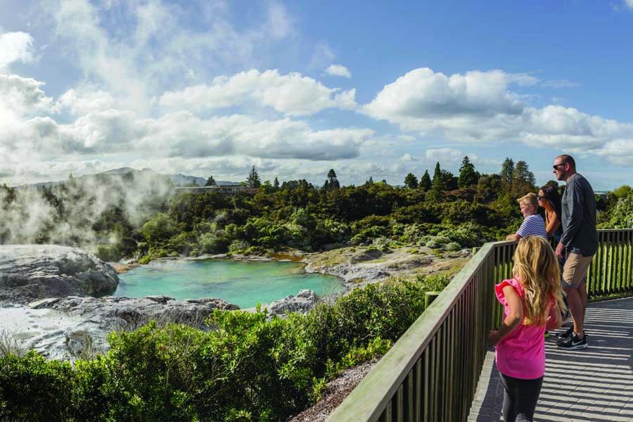 new zealand may become part of a travel bubble. image destination rotorua