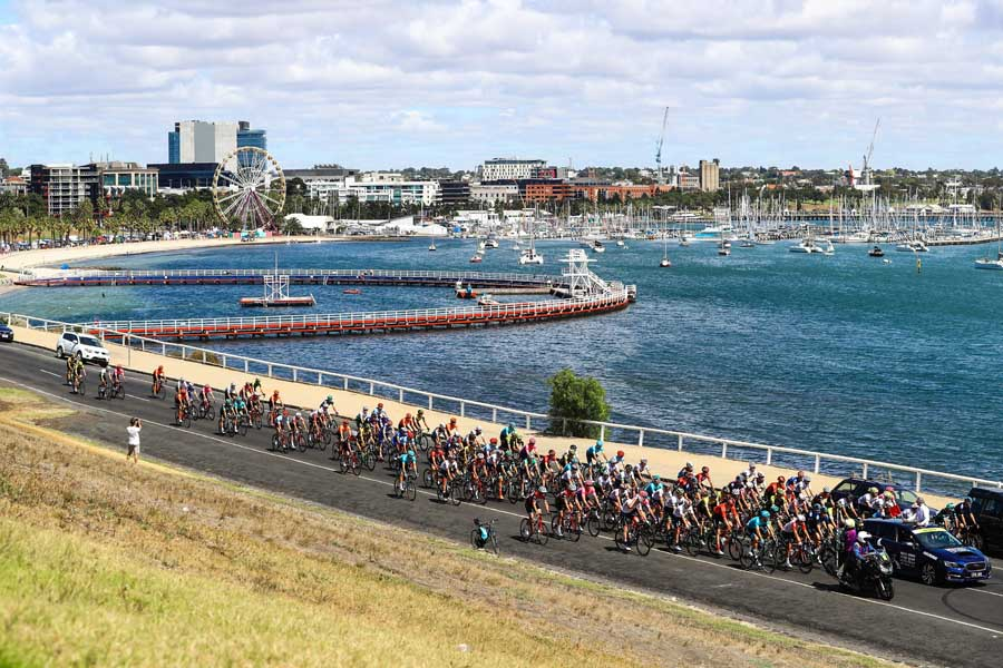riders taking part in the great ocean road race r