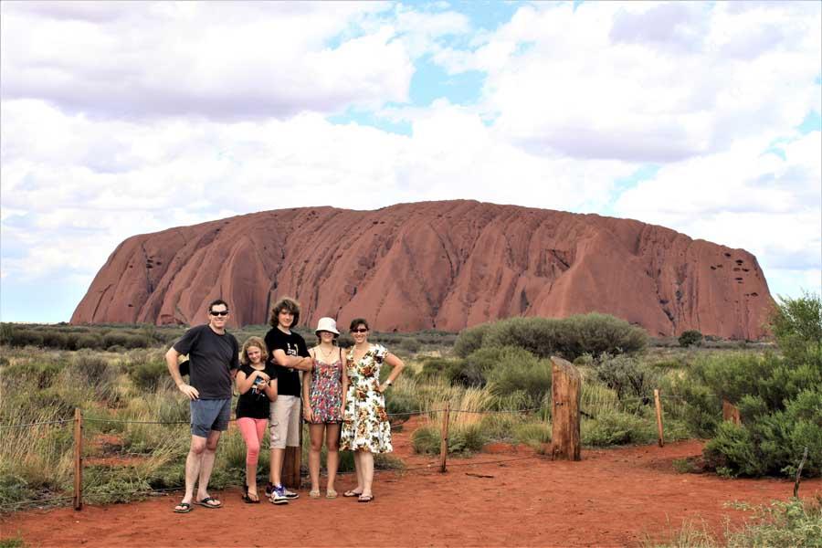 the family at uluru