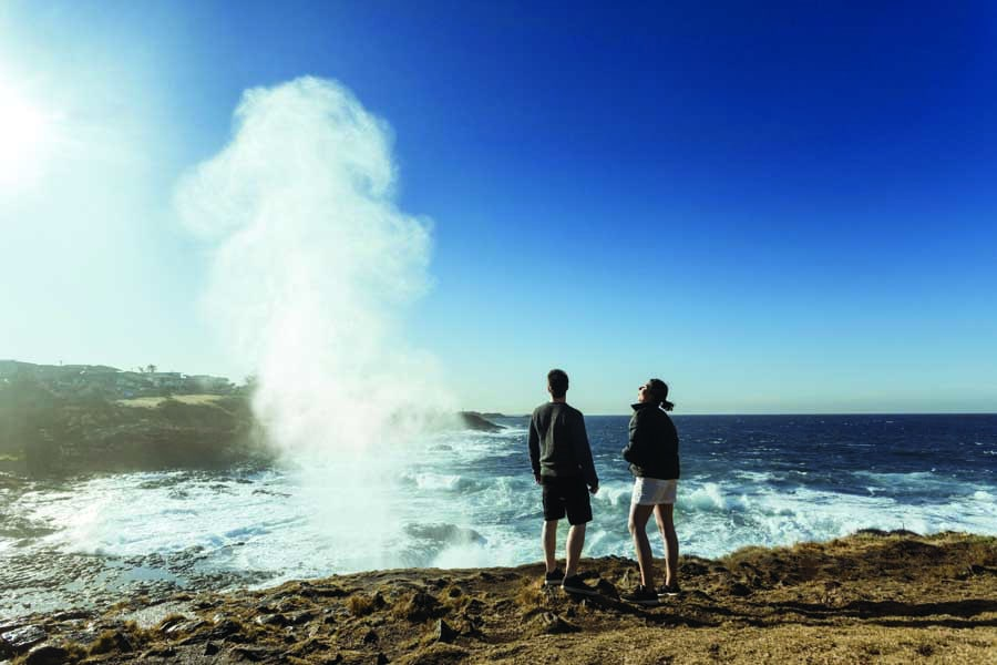 the little blowhole in kiama. image destination nsw
