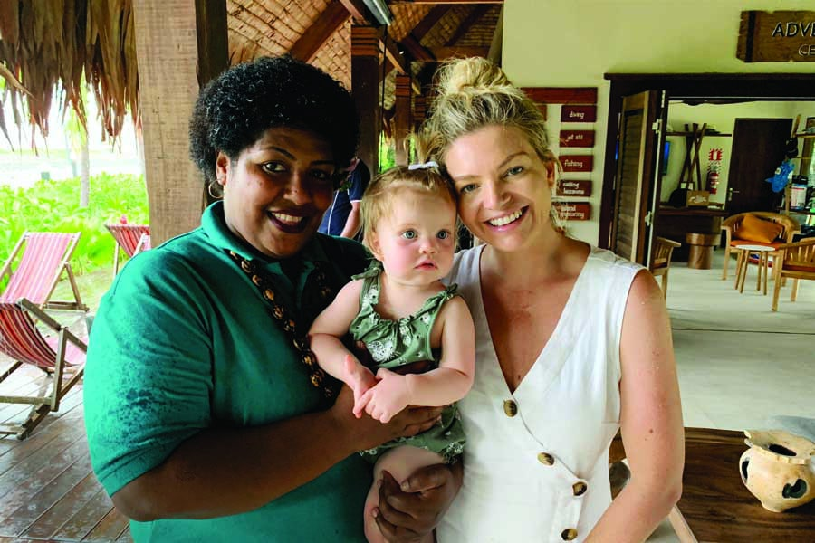 rebecca and ruby loved the friendly staff at their resort in fiji