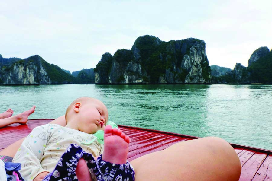 sleeping through ha long bay tour. image kyle rodriguez