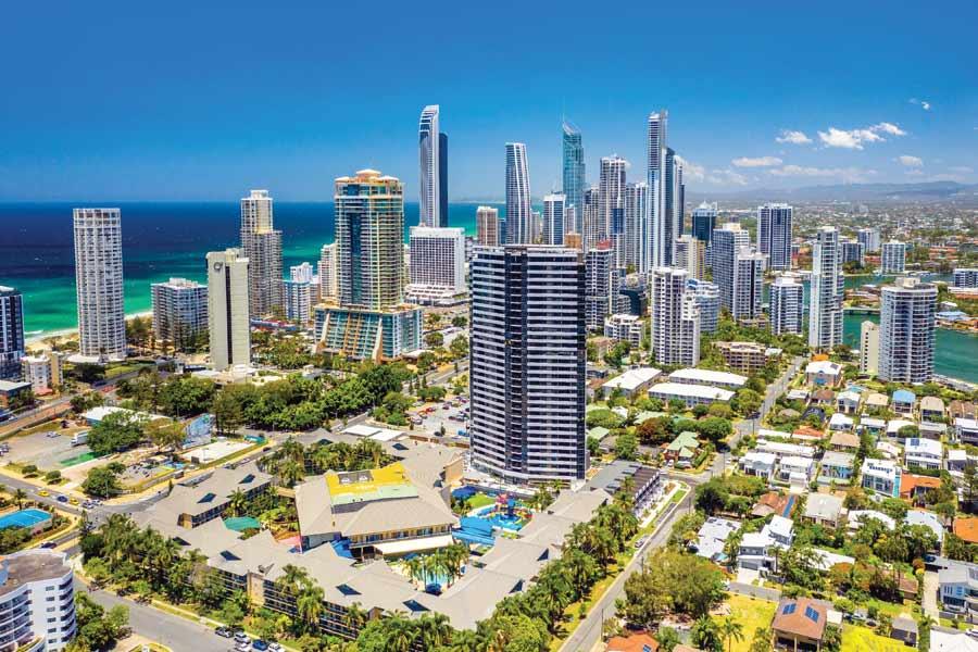 aerial view paradise resort gold coast