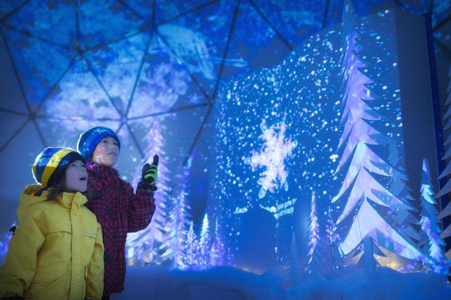 children marvel at the ice village hoshino resorts tomamu japan