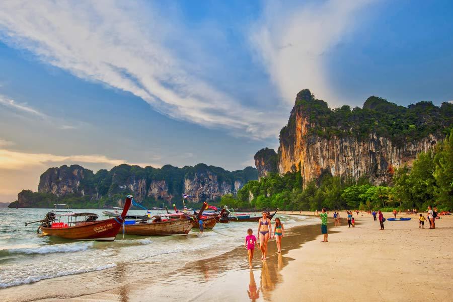 rai le beach krabi thailand image tourism authority of thailand