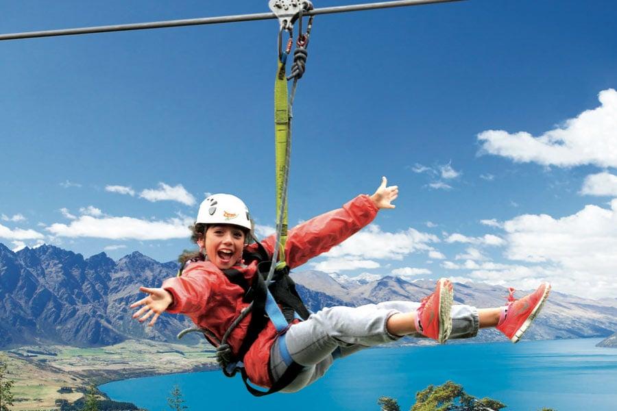 ziplining with ziptrek eco touris queenstown new zealand image destination queenstown