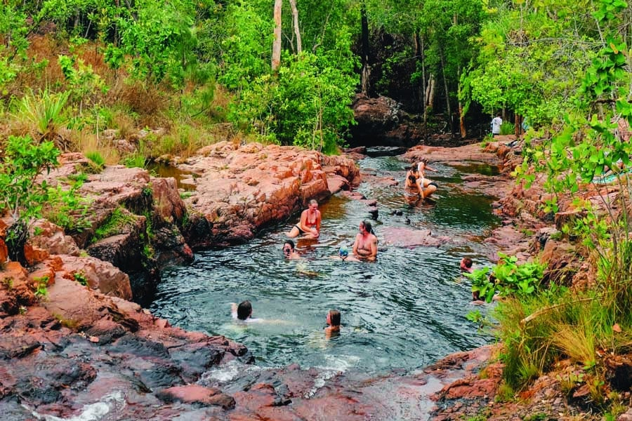 buley rockhole in litchfield national park. image tourism nt lucy ewing