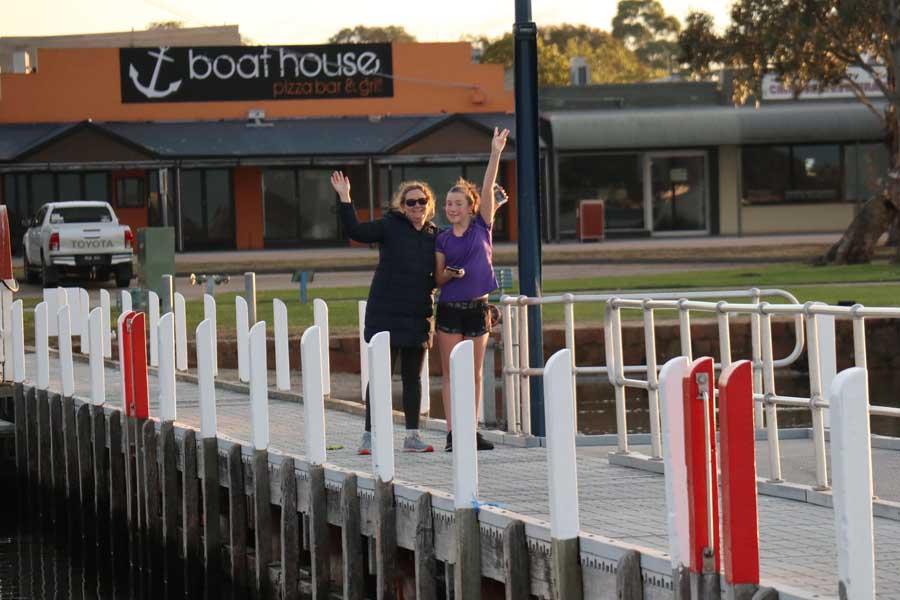 dan and jacqueline on paynesville pier