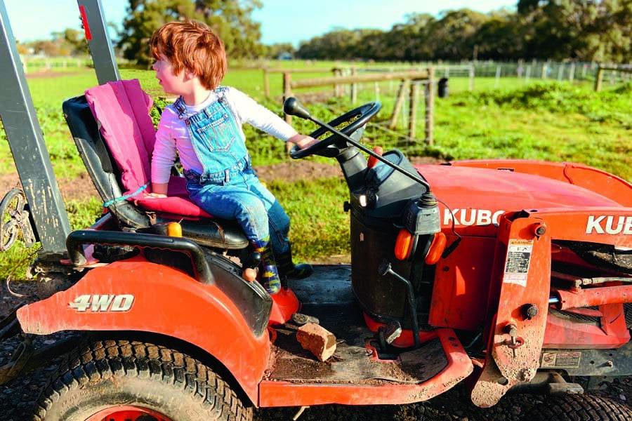 farmer jasper on his tractor
