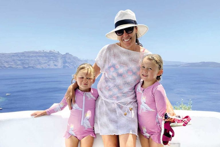 feature flip and the girls at adronis luxury suites in santorini