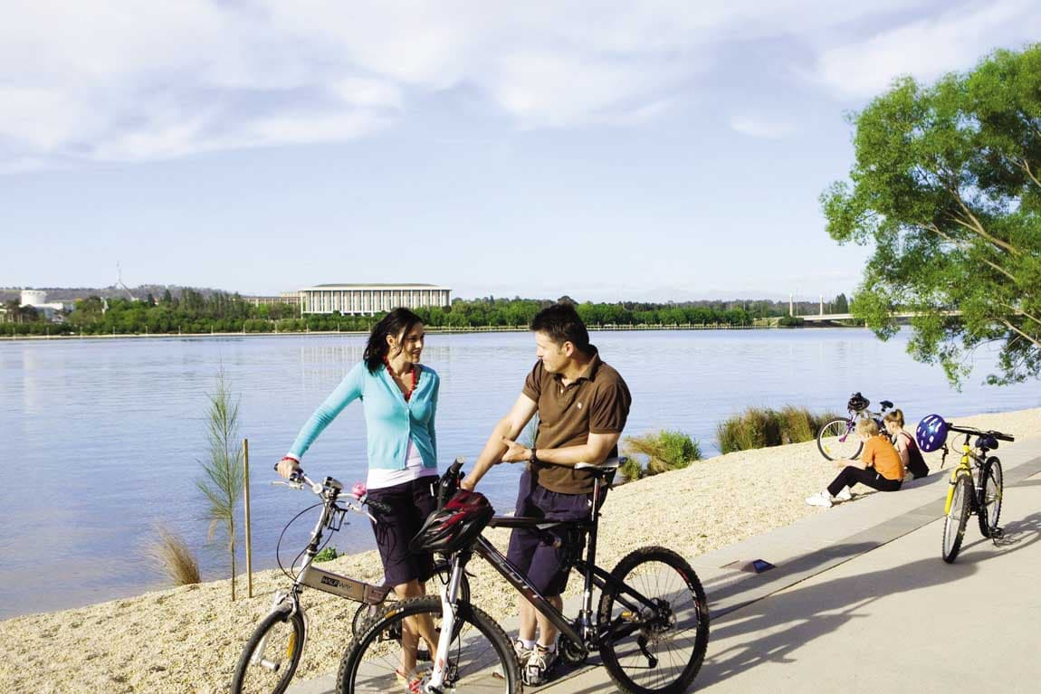 feature ride around lake burley griffin. image visitcanberra