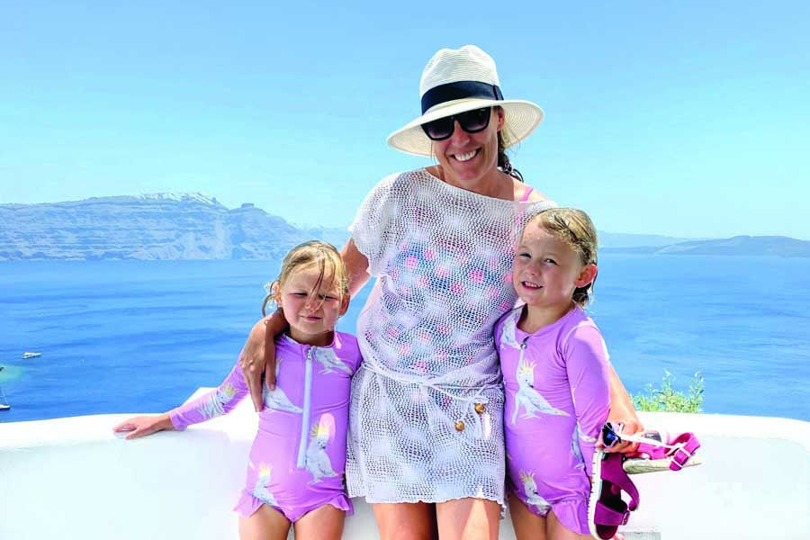 flip and the girls at adronis luxury suites in santorini