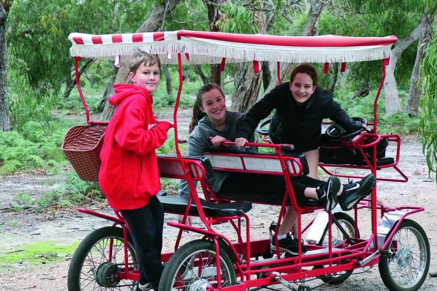 the kids loved the surrey bike from koala bike tours