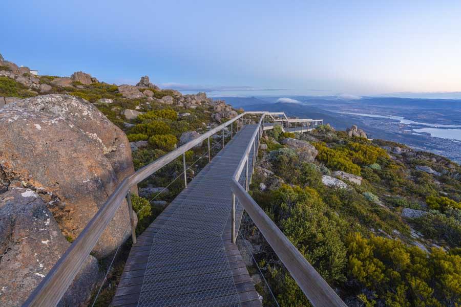 the summit of kunanyi mt wellington. image luke tscharke