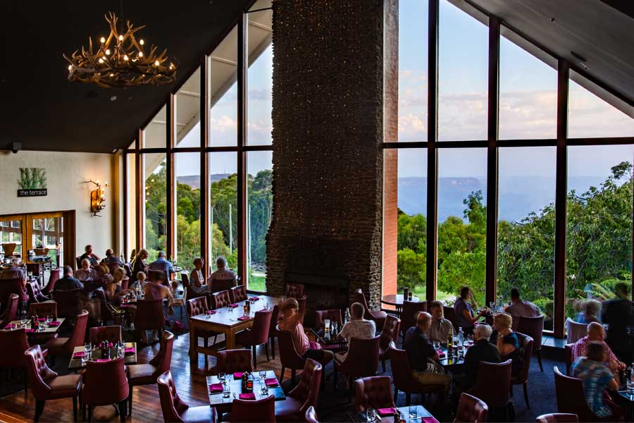 embers restaurant at fairmont resort and spa blue mountains