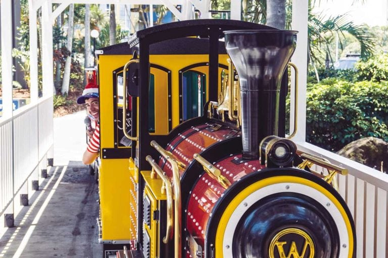 feature the new train at paradise resort gold coast