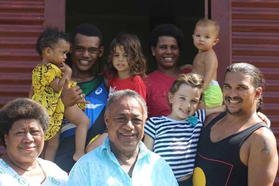 juan and the kids in fiji