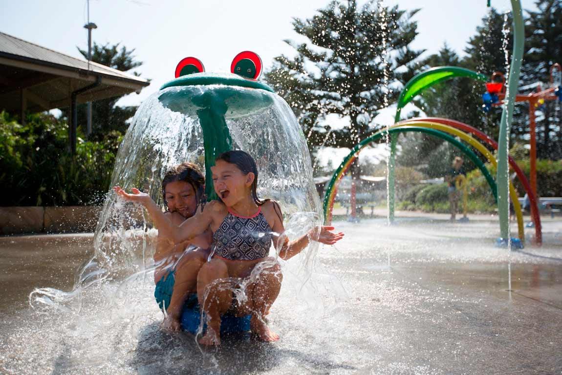 nrma sydney lakeside holiday park water playground
