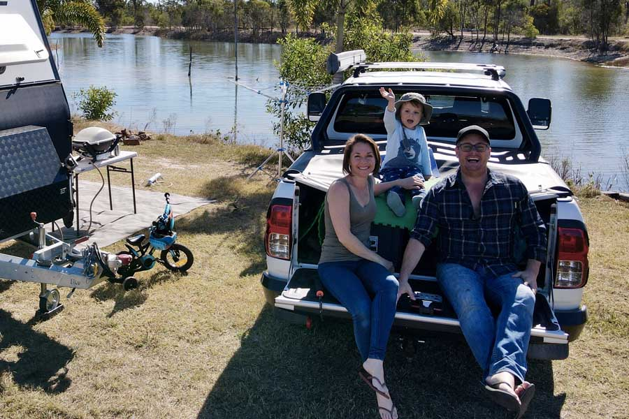 the feel good family at trinity islands in queensland