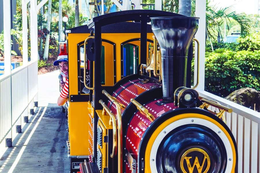 the new train at paradise resort gold coast