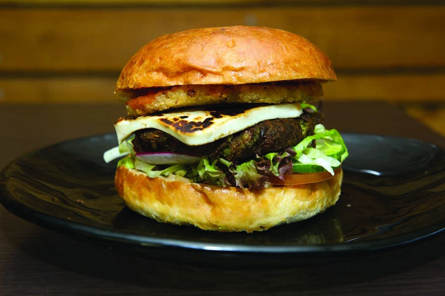 a burger from slow cuts