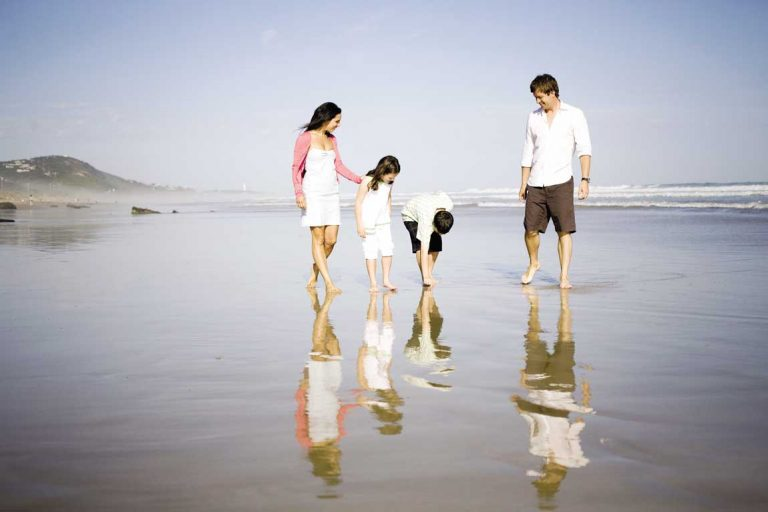 feature a family walking on fairhaven beach along the great ocean rd. image visit victoria