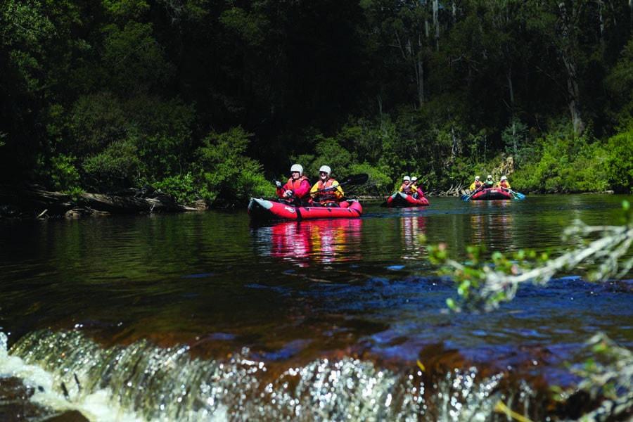 go kayaking with tahune adventures tasmania. image tourism tasmania