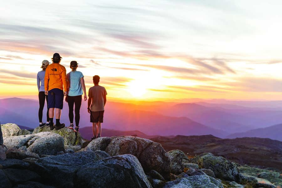 hike to mt kosciuszko for the ultimate family adventure. image thredbo