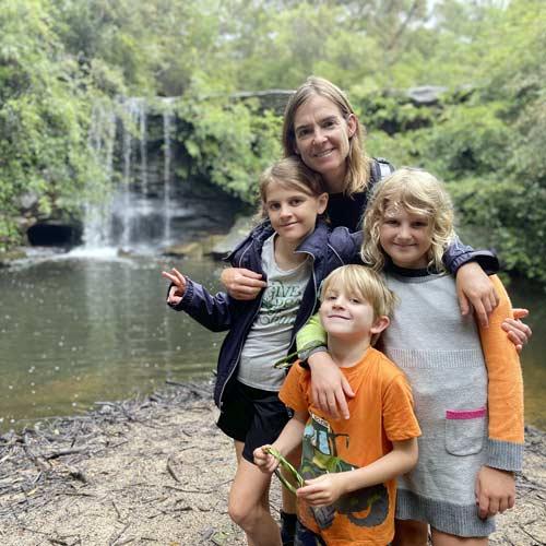 megan holbeck and her children