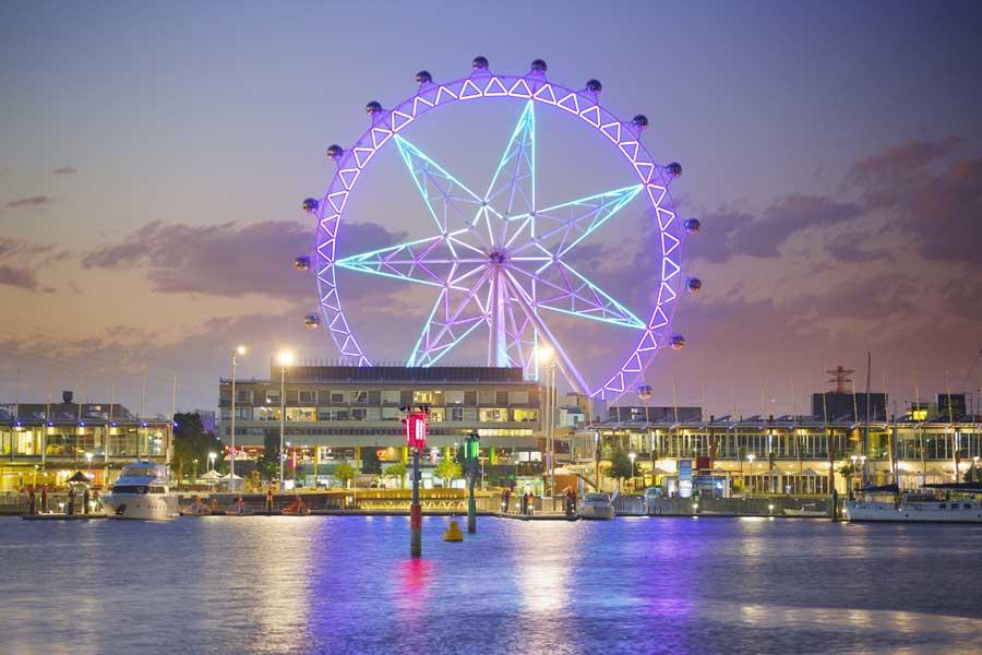 melbourne star observation wheel. image visit victoria