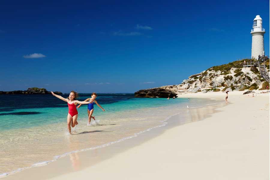 pinky beach on rottnest island. image rottnest island authority