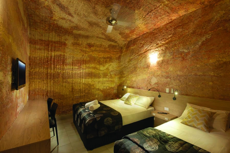 the lookout cave underground motel in coober pedy. image south australian tourism commission