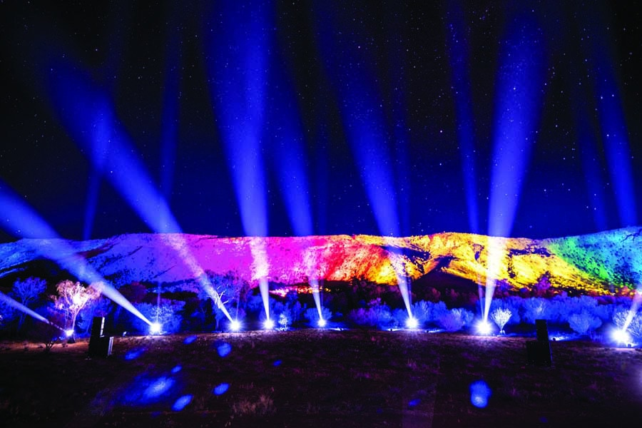 the parrtjima festival in alice springs is truly spectacular