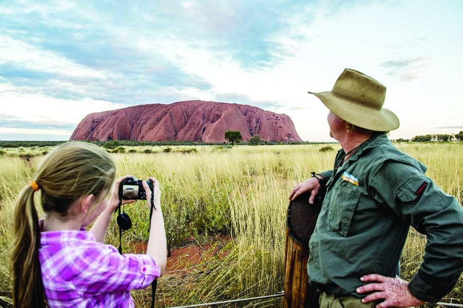 uluru is an australian icon. image tourism nt shaana mcnaught