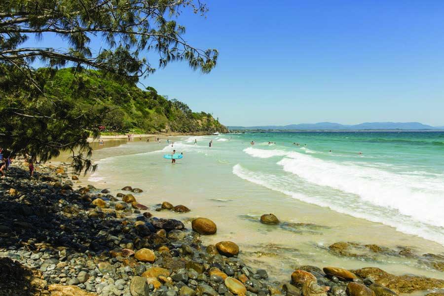 wategos beach at byron bay. image destination nsw