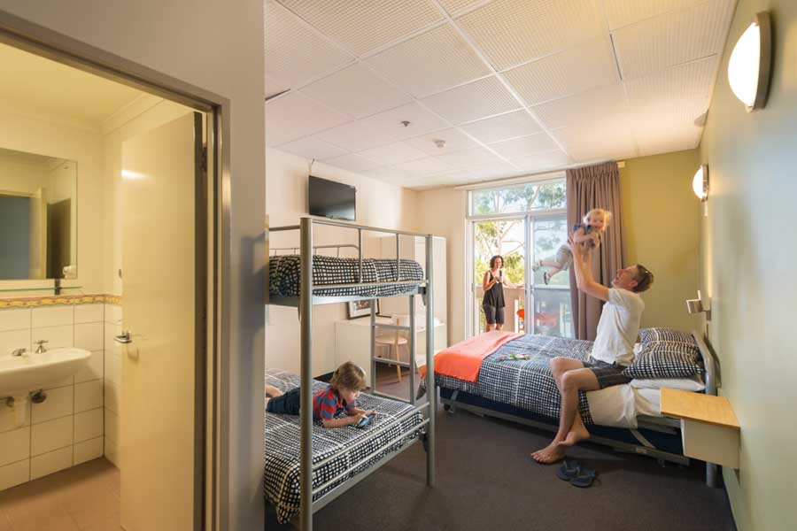 a family room at adelaide city yha - a family friendly hotel in australia
