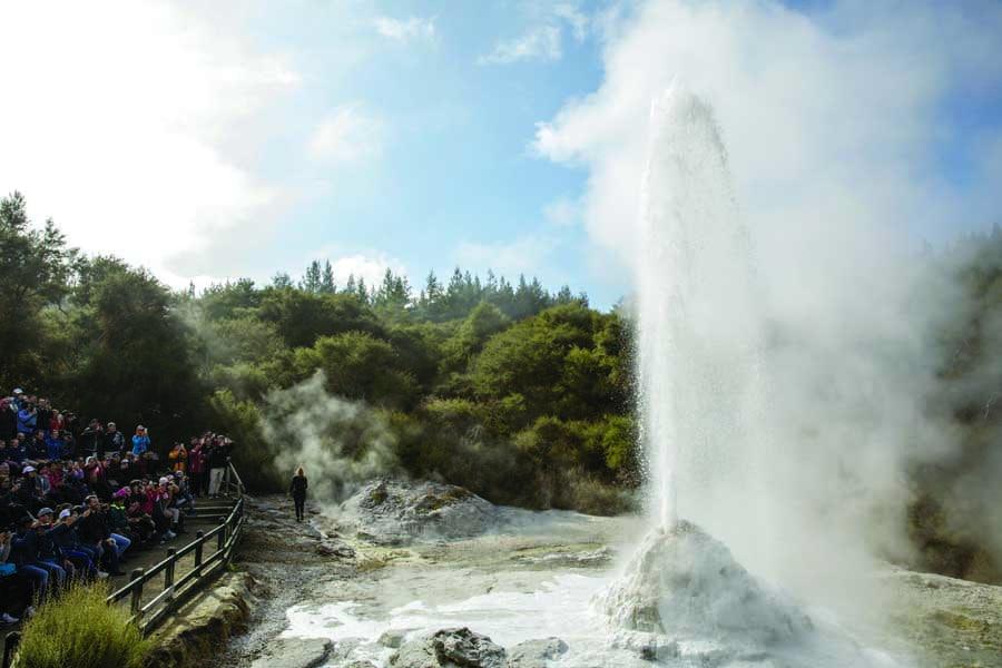 a hot spring in rotorua bay of plenty