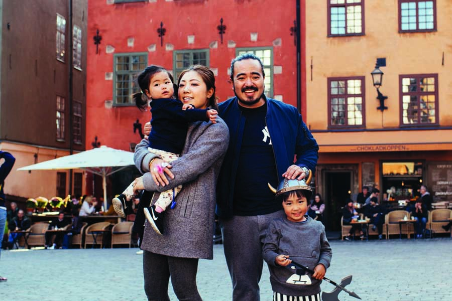 adam and his family in stockholm