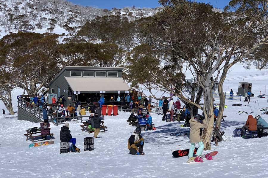 alpine eyre kiosk at Perisher ski resort