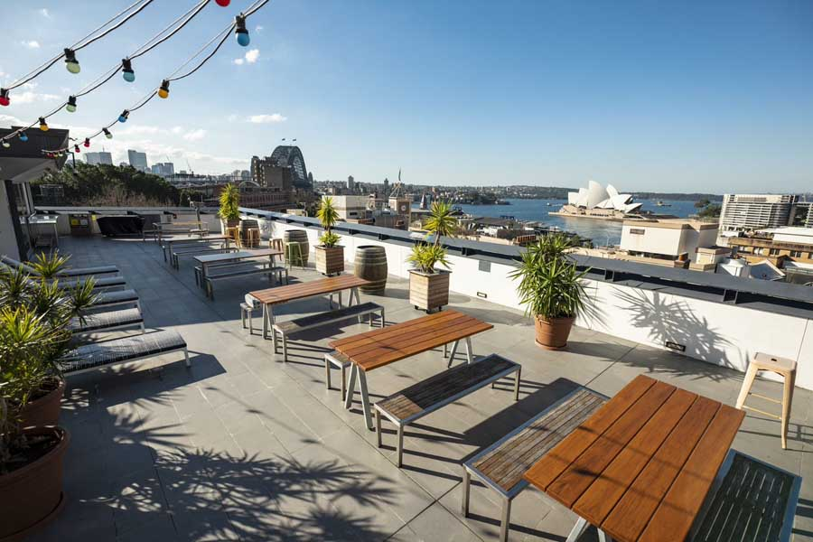 check out the view from the sydney harbour yha - a family friendly hotel in australia