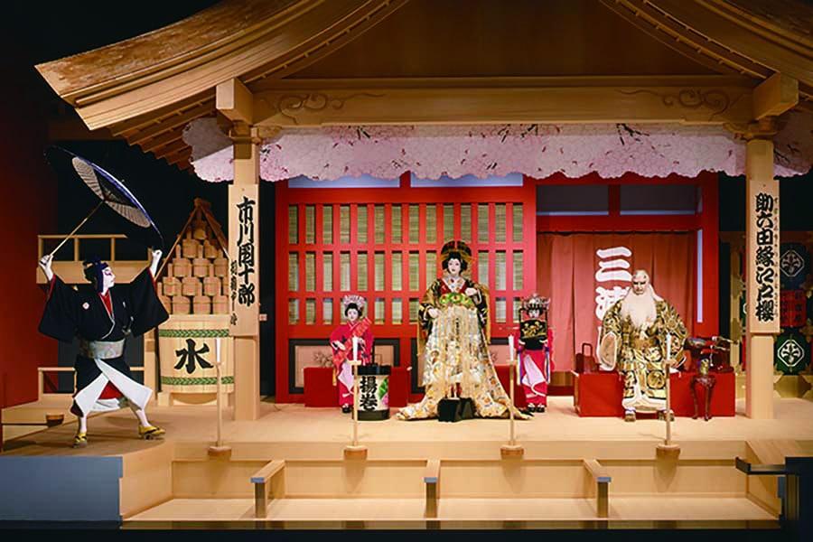 edo tokyo museum sukeroku on stage kabuki play - best places to visit in Japan with kids