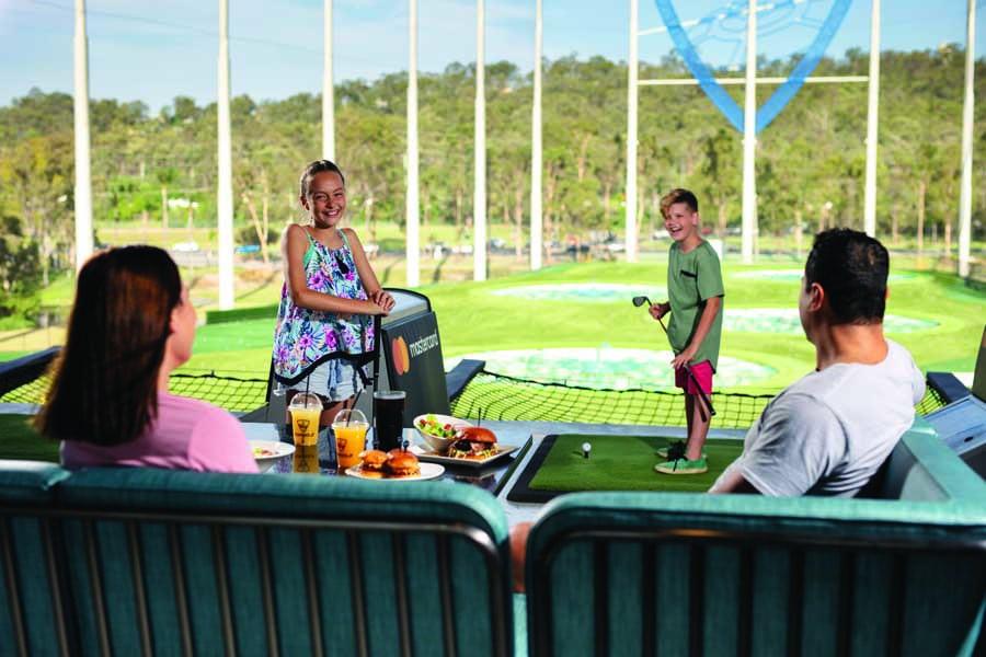 family fun at top golf, a must visit Gold Coast theme park. image village roadshow theme parks