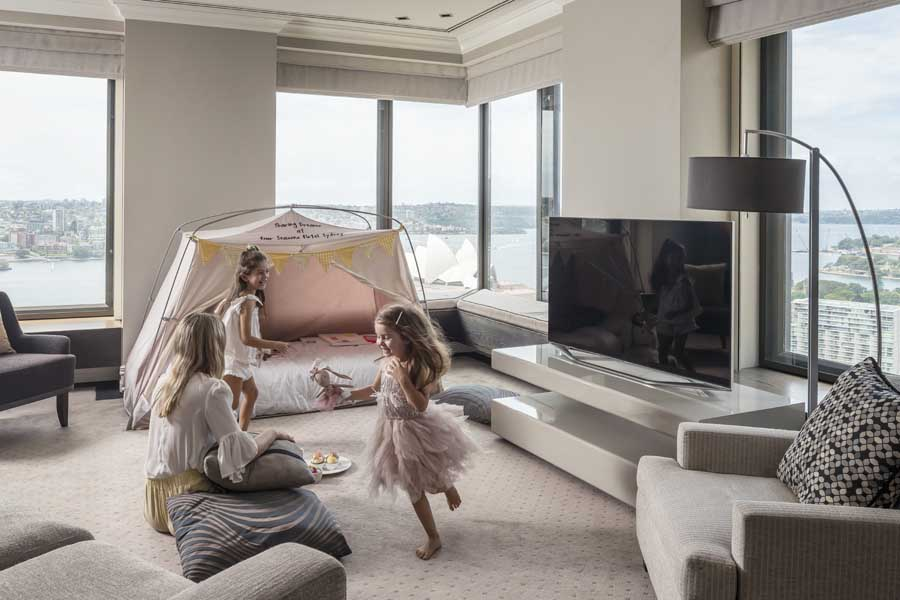 family fun package at the four seasons hotel sydney - a family friendly hotel in australia